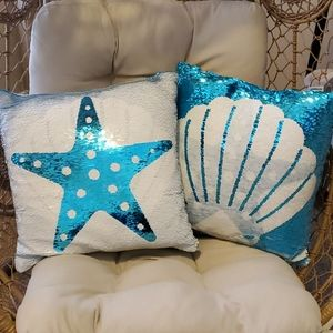 Pier 1 mermaid pillows